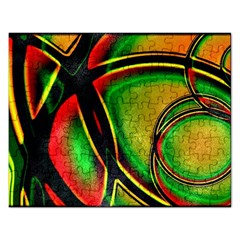 Multicolored Modern Abstract Design Jigsaw Puzzle (rectangle) by dflcprints