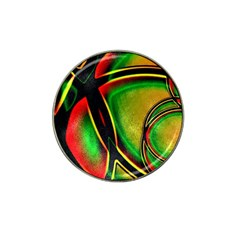 Multicolored Modern Abstract Design Golf Ball Marker 4 Pack (for Hat Clip) by dflcprints