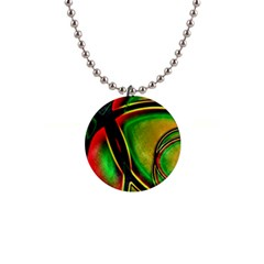 Multicolored Modern Abstract Design Button Necklace by dflcprints