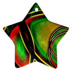 Multicolored Modern Abstract Design Star Ornament (two Sides) by dflcprints