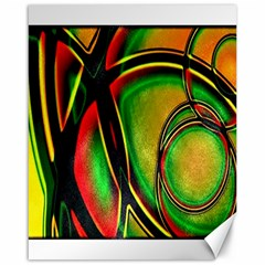 Multicolored Modern Abstract Design Canvas 16  X 20  (unframed) by dflcprints