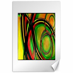 Multicolored Modern Abstract Design Canvas 20  X 30  (unframed) by dflcprints