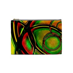Multicolored Modern Abstract Design Cosmetic Bag (medium) by dflcprints