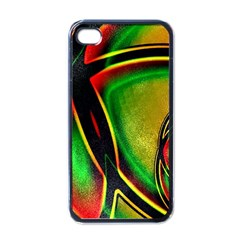 Multicolored Modern Abstract Design Apple Iphone 4 Case (black) by dflcprints
