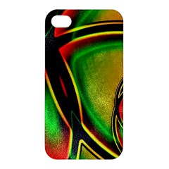 Multicolored Modern Abstract Design Apple Iphone 4/4s Hardshell Case by dflcprints