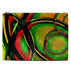Multicolored Modern Abstract Design Cosmetic Bag (xxl) by dflcprints