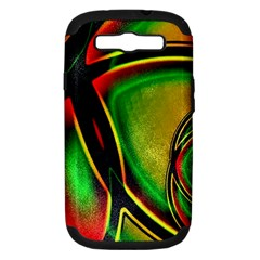 Multicolored Modern Abstract Design Samsung Galaxy S Iii Hardshell Case (pc+silicone) by dflcprints