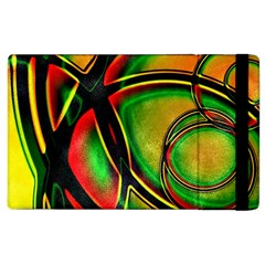 Multicolored Modern Abstract Design Apple Ipad 2 Flip Case by dflcprints