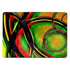 Multicolored Modern Abstract Design Samsung Galaxy Tab 10 1  P7500 Flip Case by dflcprints