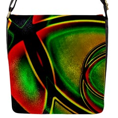 Multicolored Modern Abstract Design Flap Closure Messenger Bag (small) by dflcprints