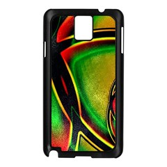 Multicolored Modern Abstract Design Samsung Galaxy Note 3 N9005 Case (black) by dflcprints