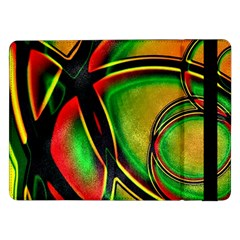 Multicolored Modern Abstract Design Samsung Galaxy Tab Pro 12 2  Flip Case by dflcprints