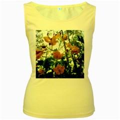 Yellow Flowers Women s Tank Top (yellow) by SaraThePixelPixie