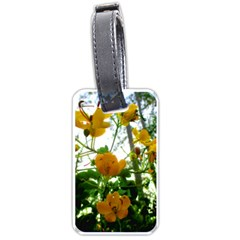 Yellow Flowers Luggage Tag (one Side)