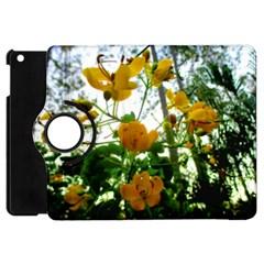 Yellow Flowers Apple Ipad Mini Flip 360 Case by SaraThePixelPixie