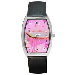 Cupcakes Covered In Sparkly Sugar Tonneau Leather Watch by StuffOrSomething