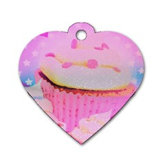 Cupcakes Covered In Sparkly Sugar Dog Tag Heart (two Sided) by StuffOrSomething