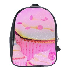 Cupcakes Covered In Sparkly Sugar School Bag (large) by StuffOrSomething