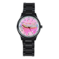 Cupcakes Covered In Sparkly Sugar Sport Metal Watch (black) by StuffOrSomething