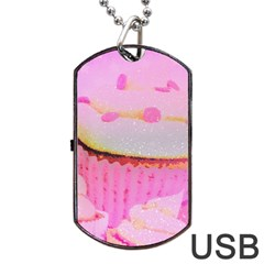 Cupcakes Covered In Sparkly Sugar Dog Tag Usb Flash (two Sides) by StuffOrSomething