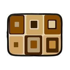 Retro Coffee Squares Netbook Sleeve (small) by SendCoffee