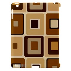 Retro Coffee Squares Apple Ipad 3/4 Hardshell Case (compatible With Smart Cover) by SendCoffee