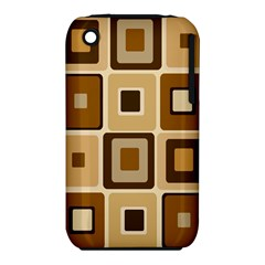 Retro Coffee Squares Apple Iphone 3g/3gs Hardshell Case (pc+silicone) by SendCoffee