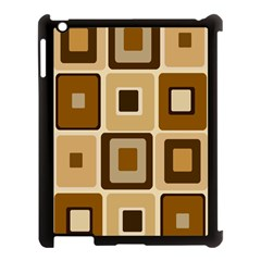 Retro Coffee Squares Apple Ipad 3/4 Case (black) by SendCoffee