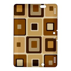Retro Coffee Squares Kindle Fire Hdx 8 9  Hardshell Case by SendCoffee