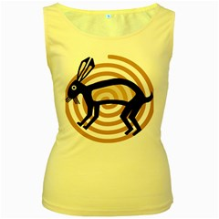 Mimbres Rabbit Women s Tank Top (yellow) by MisfitsEnterprise