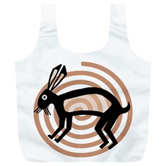 Mimbres Rabbit Reusable Bag (xl) by MisfitsEnterprise
