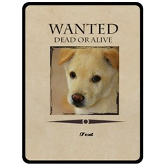 Wanted By Divad Brown   Double Sided Fleece Blanket (large)   3cky31p13ddk   Www Artscow Com 80 x60 Blanket Back