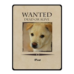 Wanted By Divad Brown   Double Sided Fleece Blanket (small)   Epve0uath377   Www Artscow Com 50 x40 Blanket Front