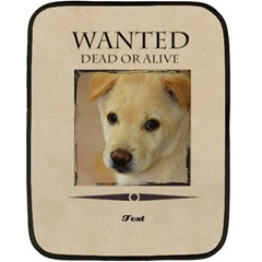 Wanted By Divad Brown   Double Sided Fleece Blanket (mini)   Yzn9ih3eqm9a   Www Artscow Com 35 x27 Blanket Front