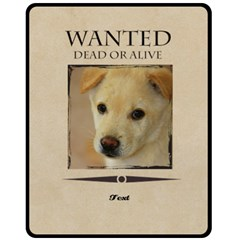 Wanted By Divad Brown   Double Sided Fleece Blanket (medium)   367mht839g92   Www Artscow Com 60 x50 Blanket Front