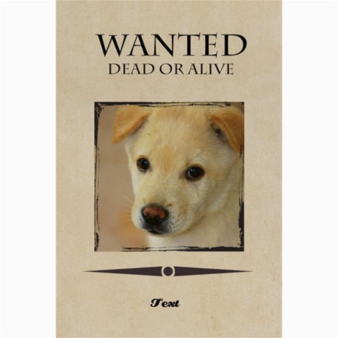 Wanted By Divad Brown      Zavf6hf6z4h8   Www Artscow Com 24 x16 Poster - 1