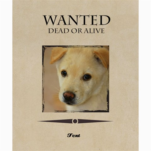 Wanted By Divad Brown      2woo1tl0mdqk   Www Artscow Com 24 x20 Poster - 1