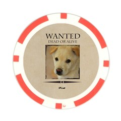 Wanted By Divad Brown   Poker Chip Card Guard   Uztajv8f2zi8   Www Artscow Com Front