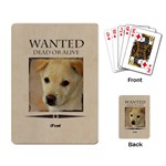 wanted - Playing Cards Single Design