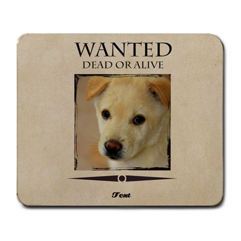 Wanted By Divad Brown 9.25 x7.75  Mousepad - 1