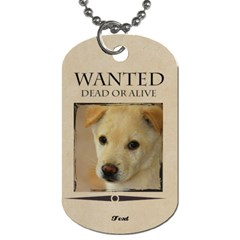 Wanted By Divad Brown   Dog Tag (two Sides)   Dqo335foxhgv   Www Artscow Com Back