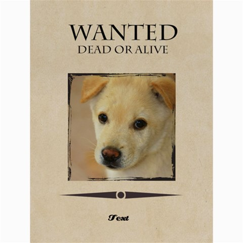Wanted By Divad Brown      Opd5e070e4fh   Www Artscow Com 48 x36 Poster - 1