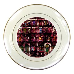 Physical Graffitied Porcelain Display Plate by SaraThePixelPixie