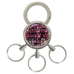 Physical Graffitied 3 Ring Key Chain by SaraThePixelPixie