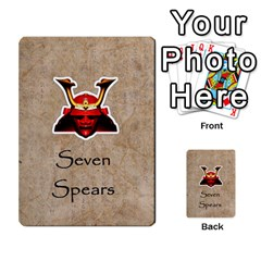 Seven Spears Takeda Uesugi Basic By T Van Der Burgt   Multi Purpose Cards (rectangle)   V0ecipjcgmoe   Www Artscow Com Front 50