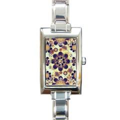 Luxury Decorative Symbols  Rectangular Italian Charm Watch by dflcprints