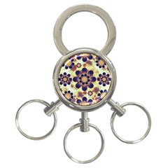 Luxury Decorative Symbols  3 Ring Key Chain by dflcprints