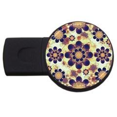 Luxury Decorative Symbols  2gb Usb Flash Drive (round) by dflcprints