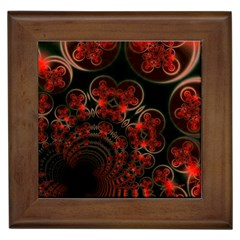 Phenomenon, Orange Gold Cosmic Explosion Framed Ceramic Tile by DianeClancy