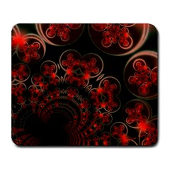 Phenomenon, Orange Gold Cosmic Explosion Large Mouse Pad (rectangle) by DianeClancy